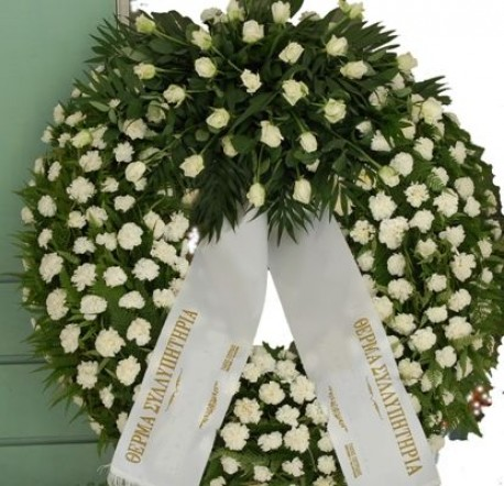 White Wreath with Roses